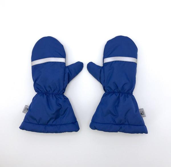 Краги трехслойные с утеплителем и трикотажным подкладом. Цвет джинс