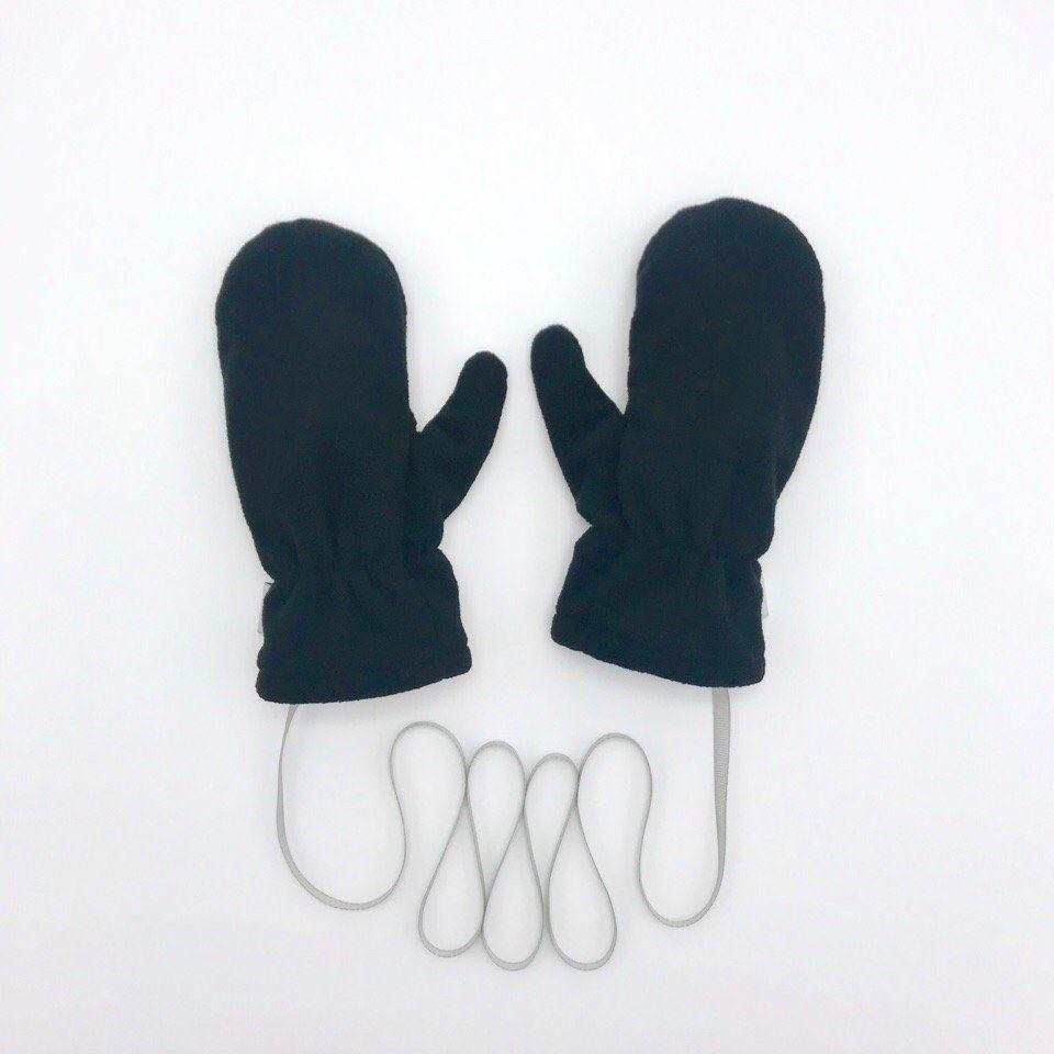 Варежки флисовые с трикотажным подкладом. цвет: черный